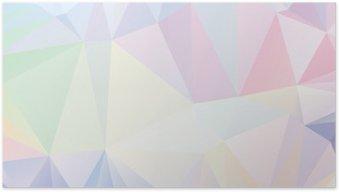 Poster Pastello Poligono geometrica