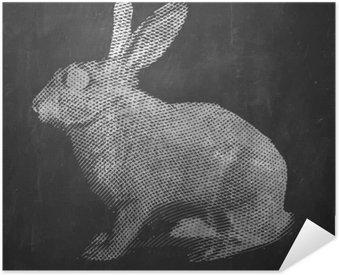 Poster Pixerstick Coniglio. Animale da fattoria. illustrazione inciso vintage su sfondo pulito.
