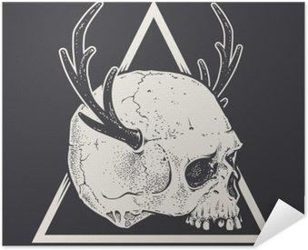 Poster Pixerstick Cranio con le corna