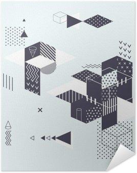 Poster Pixerstick Priorità bassa geometrica astratta moderna