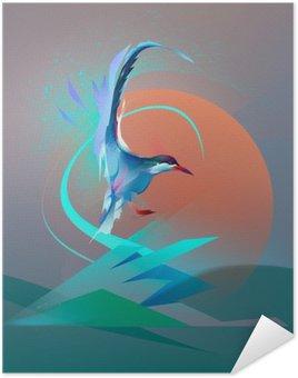 Poster Pixerstick Uccello gabbiano sterna