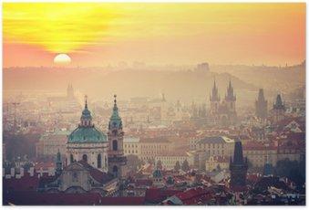 Poster Prag bei Sonnenaufgang