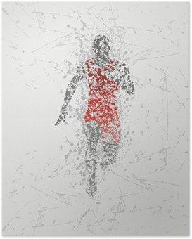 Poster Progettazione atleta corridore