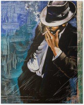 Poster Ritratto di un uomo con una sigaretta