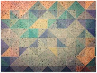 Poster Rosa und lila Dreieck abstrakten Hintergrund Illustration