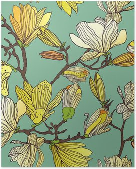 Poster Seamless floral Textur