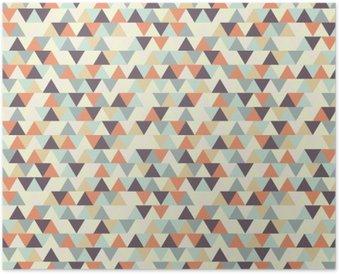 Poster Seamless pattern geometrici
