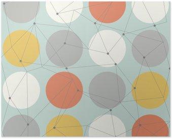 Poster Skandinavisch geometrische moderne nahtlose Muster