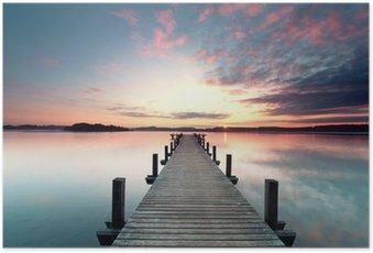 Poster Sommermorgen mit Sonnenaufgang