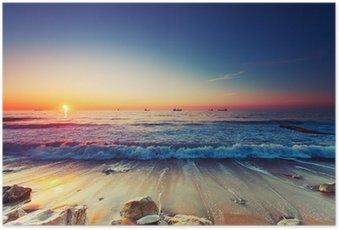 Poster Sonnenaufgang über dem Meer