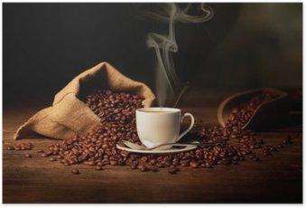 Poster Tazzina di caffè fumante