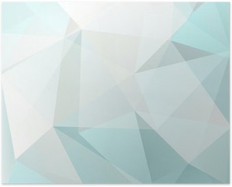 Poster Triangolo sfondo astratto, vettore