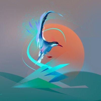 Poster Uccello gabbiano sterna