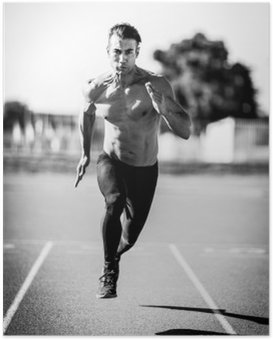 Poster Uomo Sprinter