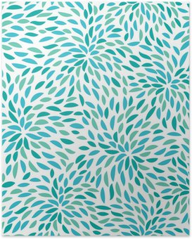 Poster Vector flower pattern. Seamless floral background.