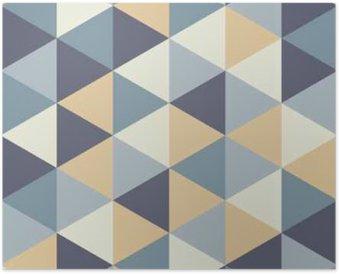 Poster Vector moderno senza soluzione di modello colorato geometria del triangolo, colore di sfondo astratto geometrica, cuscino di stampa multicolore, retro tessitura, design di moda pantaloni a vita bassa