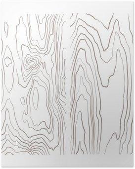 Poster Verschiedene monochrome Holz Textur Sammlung Illustration.