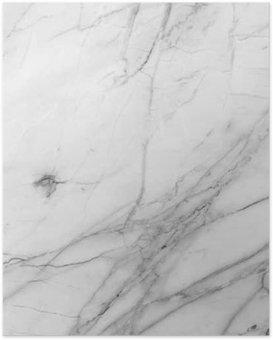 Poster Weißen Hintergrund Marmorwandbeschaffenheit