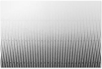 Poster Zusammenfassung minimalistisch weiß gestreiften Hintergrund mit vertikalen Linien und Header. Kopieren Sie Raum. Die Textur.