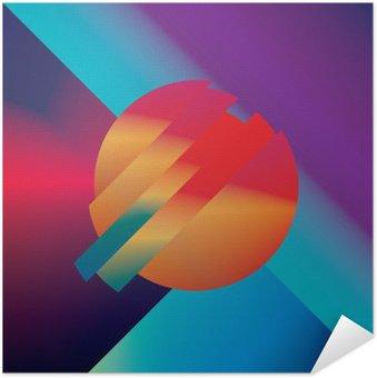 Póster Autoadesivo Design de material de fundo do vetor abstrato com formas geométricas isométricos. ,, Símbolo brilhante vívido brilhante colorido para papel de parede.