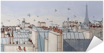 Póster Autoadesivo France - Paris roofs