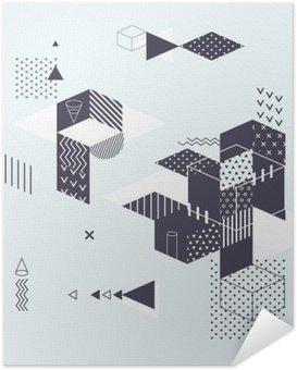 Póster Autoadesivo Fundo geométrico abstrato moderno