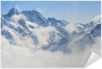 Póster Autoadesivo Jungfraujoch Alps mountain landscape