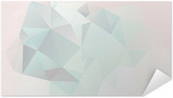 Póster Autoadesivo soft pastel abstract geometric background with gradients vector