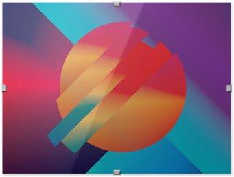 Póster em HD com Moldura Design de material de fundo do vetor abstrato com formas geométricas isométricos. ,, Símbolo brilhante vívido brilhante colorido para papel de parede.