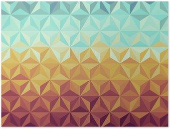 Póster em HD Retro hipsters geometric pattern.