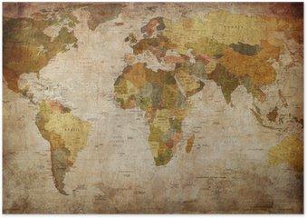 Póster em HD World Map