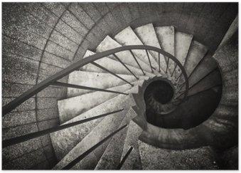 Póster Escada em espiral