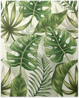 Póster Folhas padrão