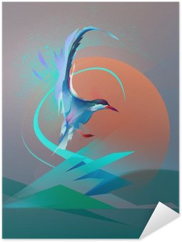 Pôster Pixerstick Pássaro tern gaivota