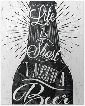 Póster Poster da cerveja do vintage