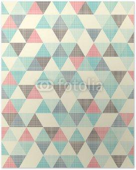 Póster seamless geometric pattern