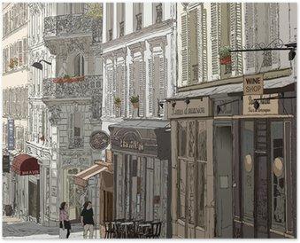 Póster Street in Montmartre
