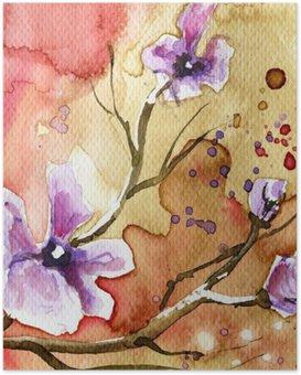 Poster Arka plan çiçekler