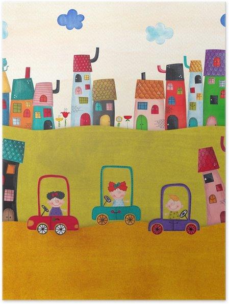 Poster Çocuklar için Çizim - Manzaralar