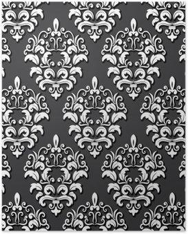 Poster Damask seamless pattern background