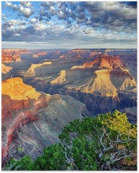 Poster Grand Canyon sabah ışığı