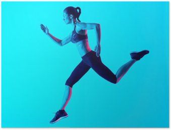 Poster Kadın koşma izole