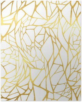 Poster Soyut altın takı ile Seamless pattern