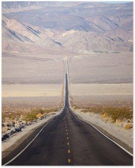 Poster Strada nella Death Valley