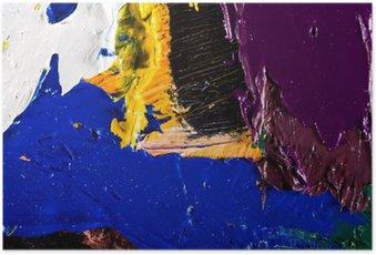 Poster Abstract kunstwerk achtergrond schilderij