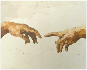 Poster Abstract main illustration vectorielle de Dieu