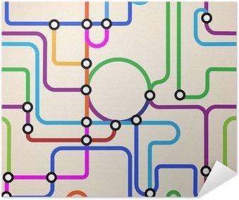 Abstract subway map seamless wall mural pixers we live to change abstract subway map seamless poster sciox Choice Image