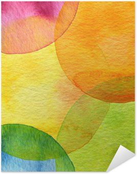 Poster Abstract watercolor circle painted background