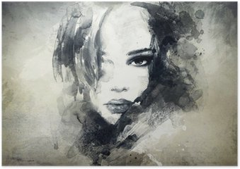 abstract woman portrait Poster