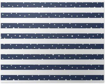 Poster Abstracte Naadloze Horizontale gestreept patroon